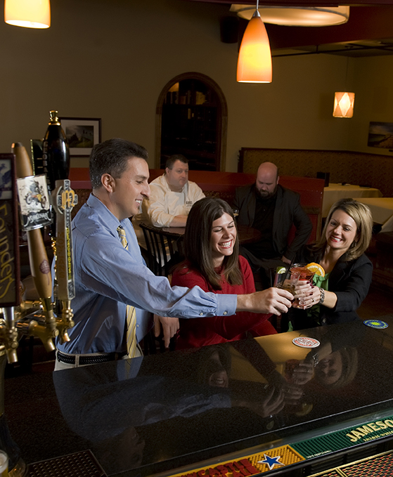 KOMU's Michelle Bogowith, Sarah Hill and Chris Gervino take a break at 44 Stone Public House.