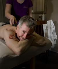 Sycamore's Chef Mike Odette takes time out for some pampering at Riversong Spa.