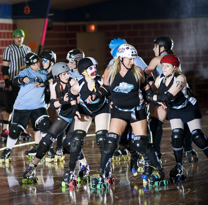 Roller derby blocker positions for sexual health